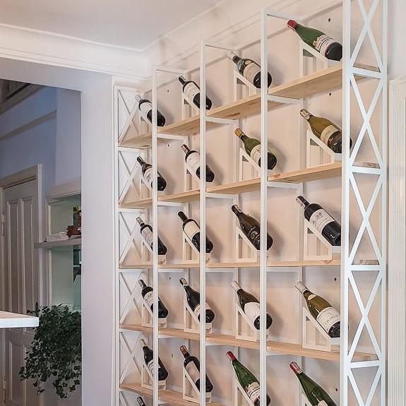 Regał na wino Loft 87 w stylu industrialnym