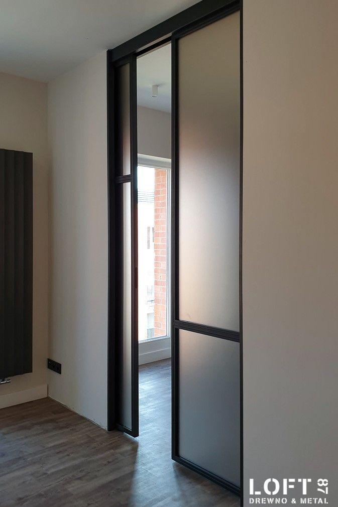 Drzwi loftowe-industrialne przesuwane