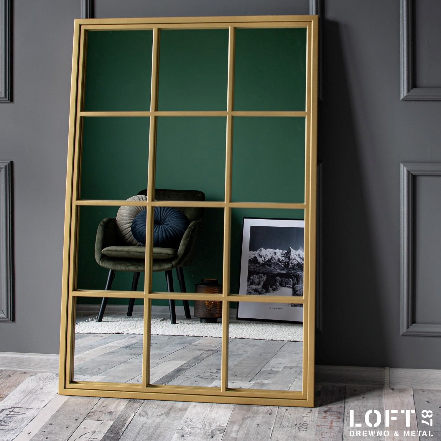 Loftowe lustro